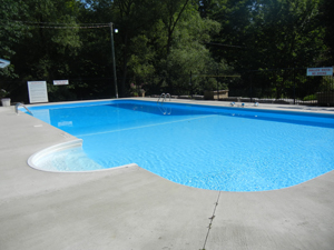 Swimming pool at Camp Bimini in St. Pauls, Ontario